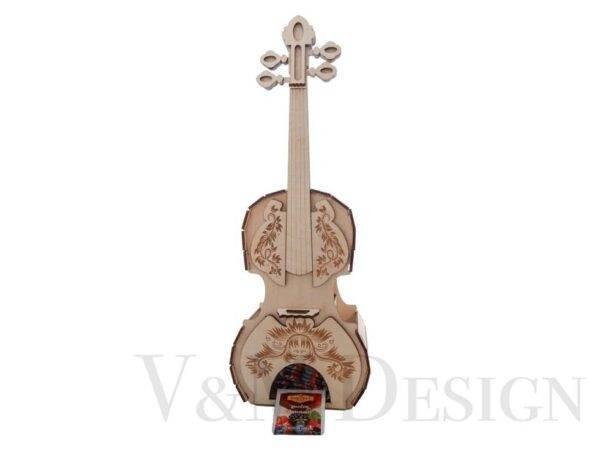 Lesena violina za shranjevanje čajnih vrečk